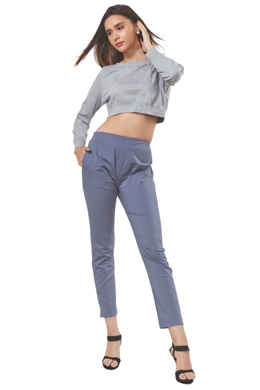 Straight Pants (Steel Grey)