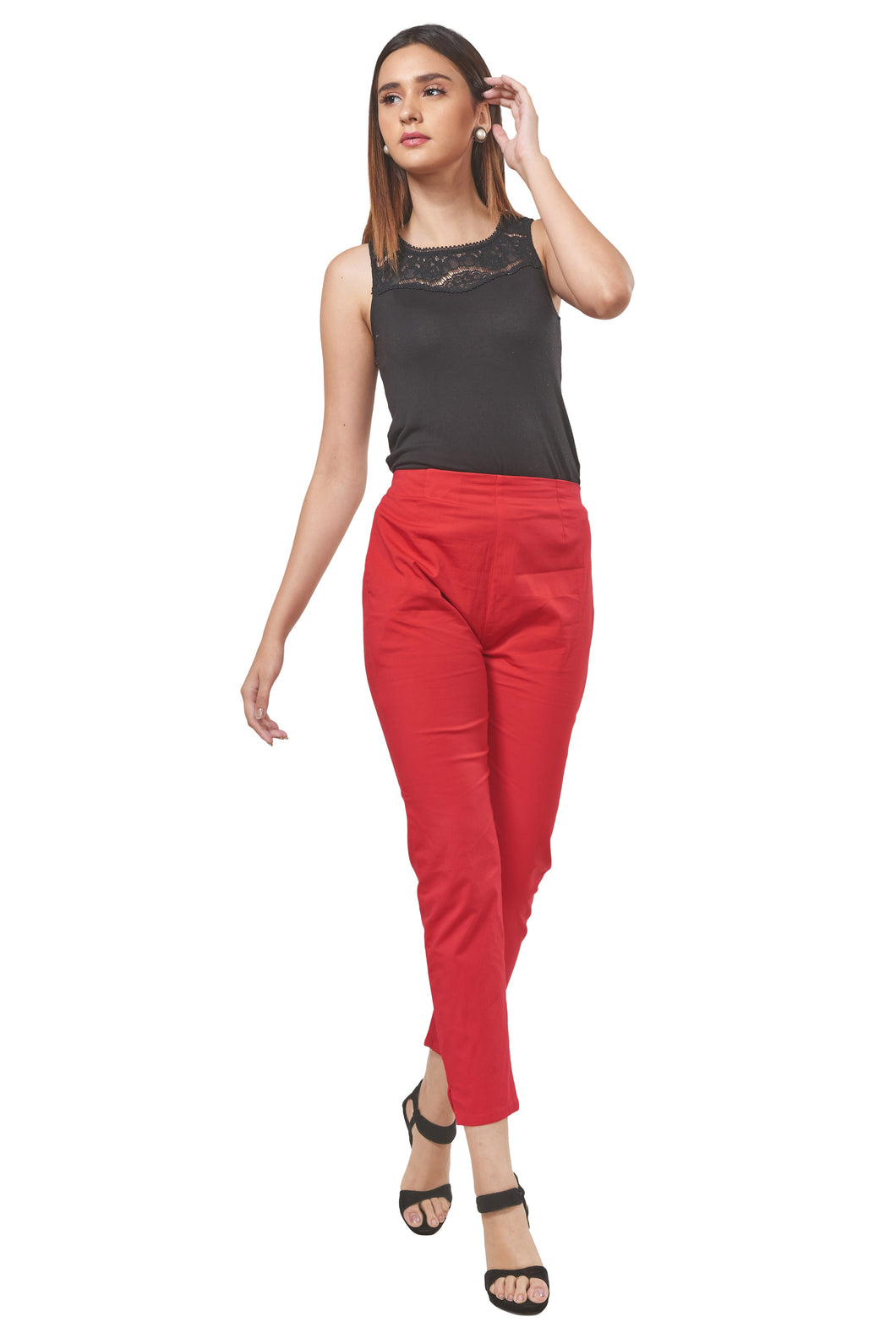 Straight Pants (Poppy Red)