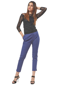 Straight Pants (Navy)