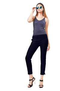 Straight Pants : Plus Size (Dark Navy)