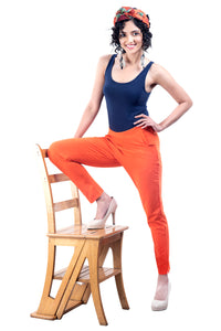 Knit Pants (Carrot Orange)