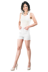 Plain Hot Pants (White)