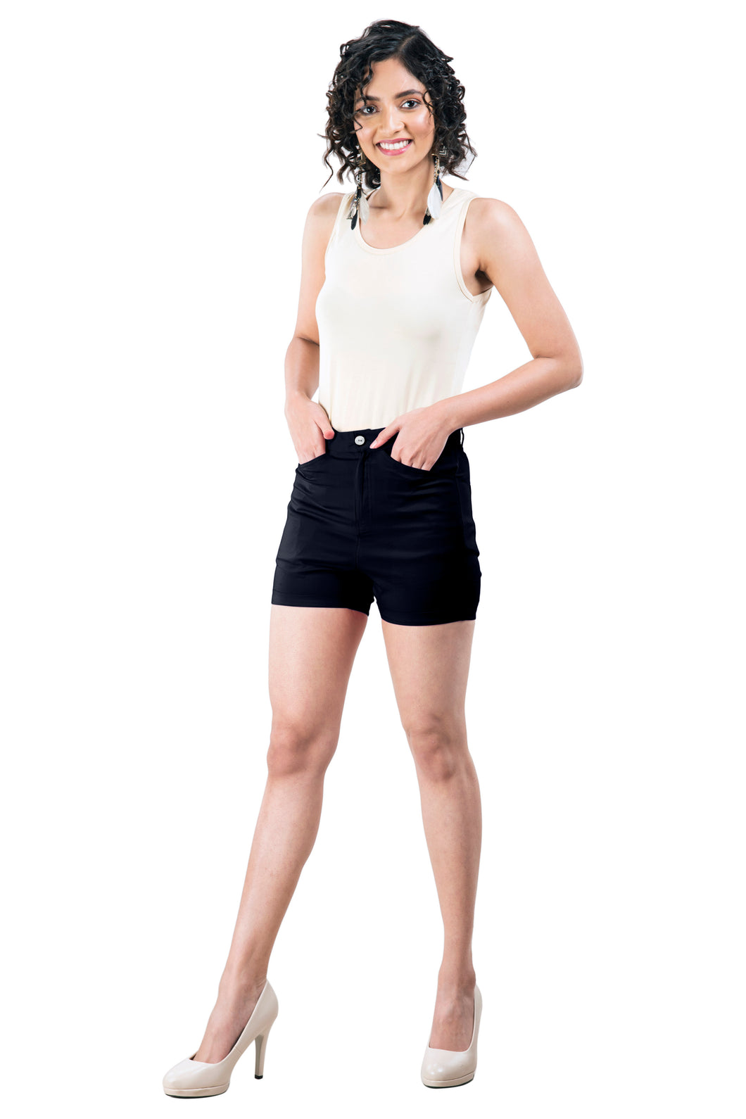 Plain Hot Pants (Dark Navy)