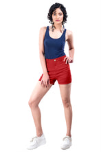 Load image into Gallery viewer, Plain Hot Pants (Poppy Red)