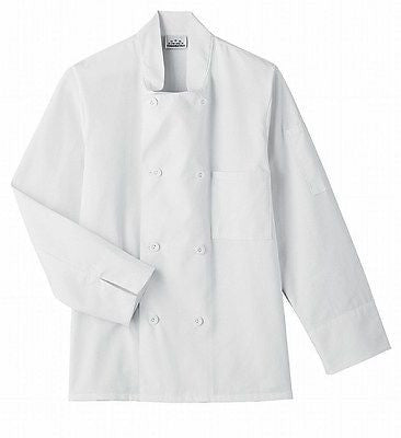 18000-FIVE STAR CHEF APPAREL-8 BUTTON CHEF JACKET-BLACK, WHITE (SIZE XS-5X)