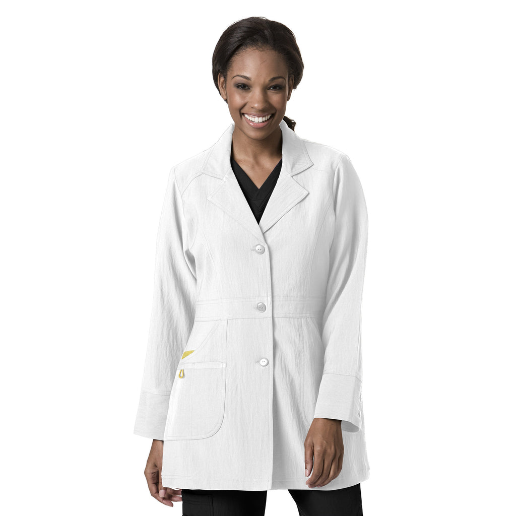 Four-Stretch by WonderWink-Women's 4-Stretch Lab Coat-Item# 7004 (Sizes XS-2X)