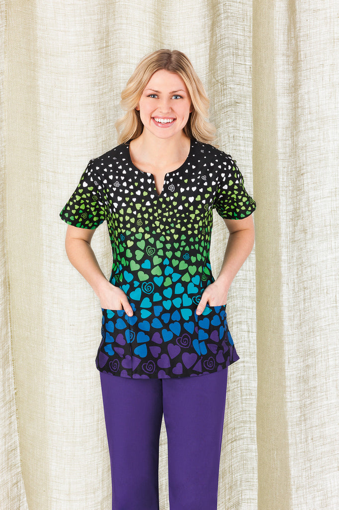 Trust Your Journey-Shaped Jewel Neck Print Top-Item# 5848 -Hope-3594 (Size XXS-3XL)