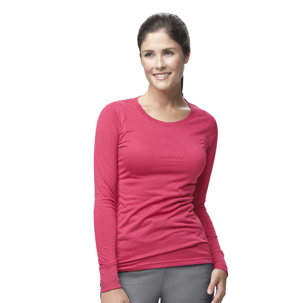 Knits & Sub-Scrubs-Women's Long Sleeve Burn-Out Jersey-Item# C30109 (Size XS-3X)