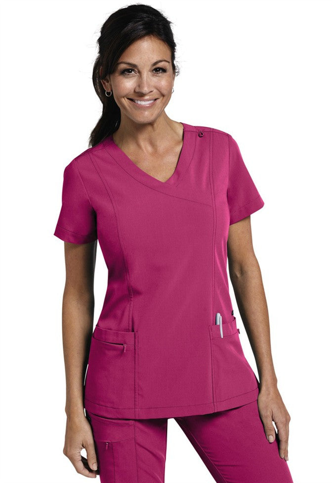 Jockey Ladies Mock Wrap Scrub Top- Item# 2306 (Sizes XXS-XL)