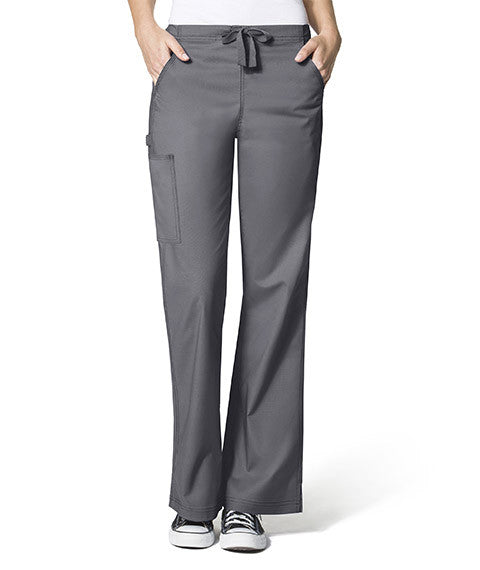 WonderFlex by WonderWink- GRACE-Flare Leg Cargo Pant-item# 5308 (SOLID COLOR) (Regular Length Size XXS-5X)