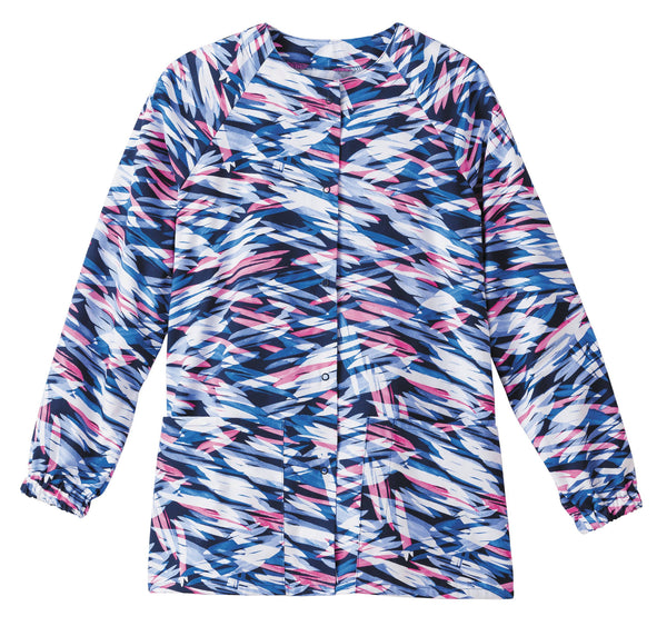 Fundamentals Print Tops- Raglan Sleeve Warm-Up-On the Horizon Dusk-406-Item# 14373 (Size XXS-5X)