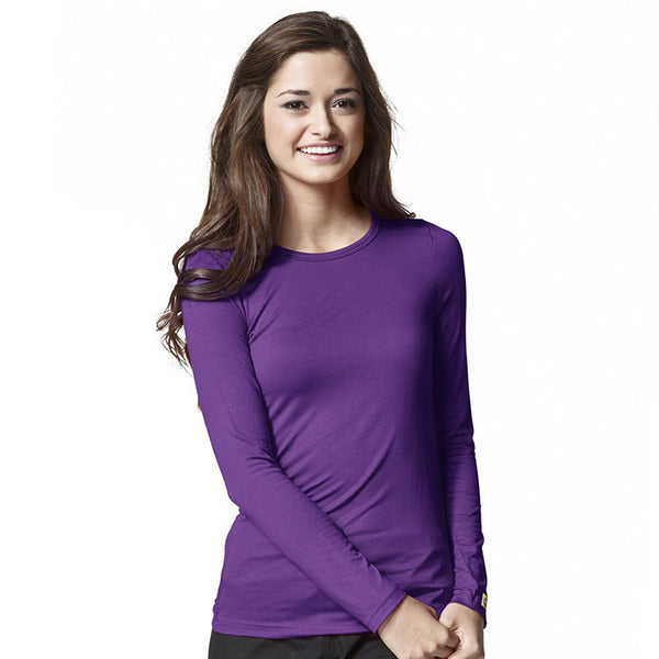 Layers by WonderWink-Silky Long Sleeve Tee-Item# 2009 (Sizes XS-2X)