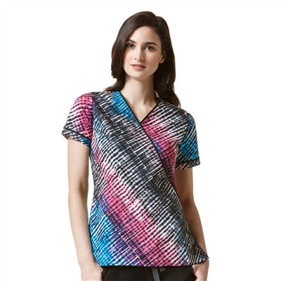 WonderFlex by WonderWink-DYE-ANGONAL (DYE)- Print Top-item# 6578 (Sizes XXS-3XL)