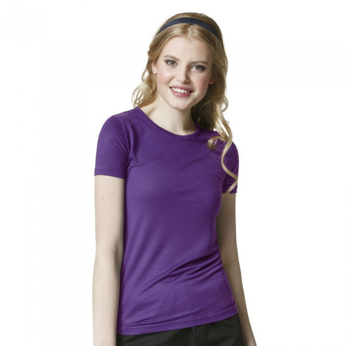 Layers by WonderWink-Silky Short Sleeve Tee-Item# 2209 (Size XS-2X)