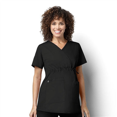WonderWORK by WonderWink- Women's Maternity Mock Wrap-Item# 145 (Size 2X-3X)