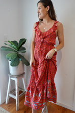 Load image into Gallery viewer, Liliana Maxi Dress ~ red flora