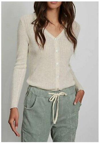 Knitted Cardigan in Natural ~ Little Lies