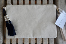 Load image into Gallery viewer, Embroidered Clutch ~ blue