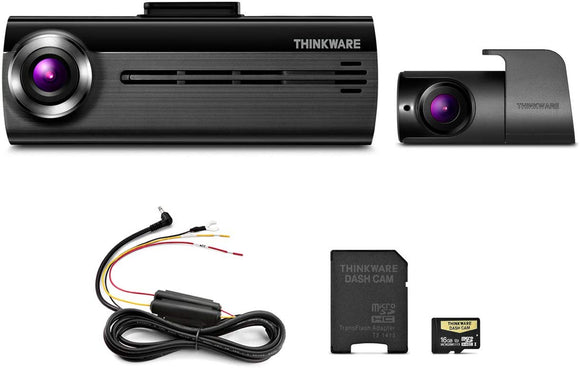 THINKWARE FA200 Dash Cam Bundle with Front & Rear Cam, 16GB -Refurbished