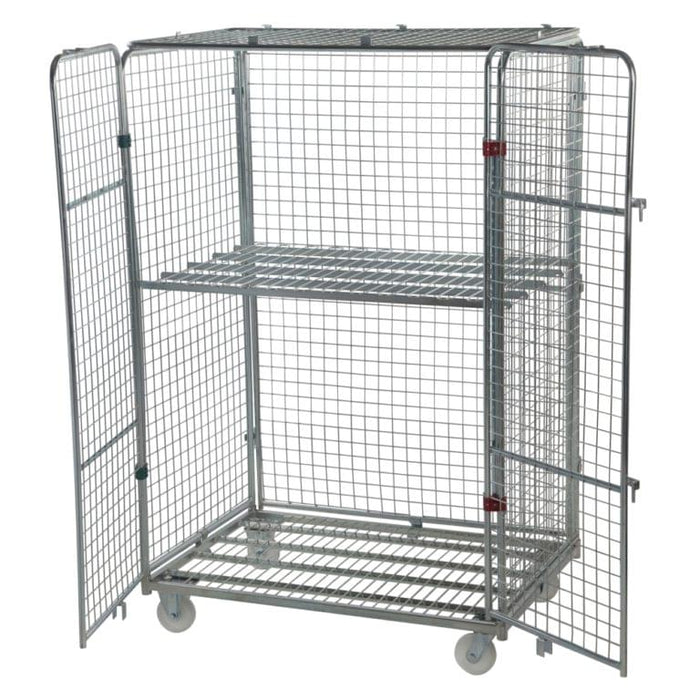 Four Sided Jumbo Security Roll Cage Pallet With Lid