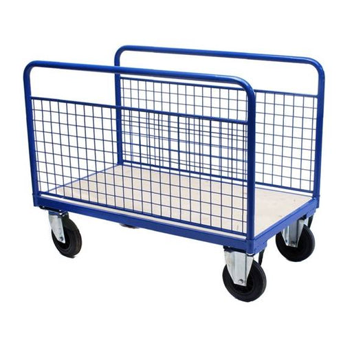Double Mesh Sided Platform Trolley