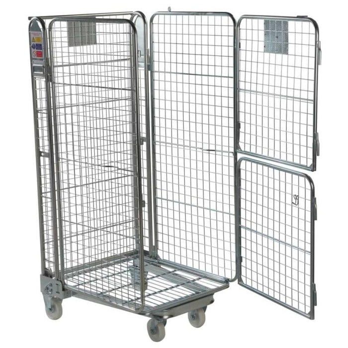 Four Sided Roll Cage Pallet - Mesh Split Gate