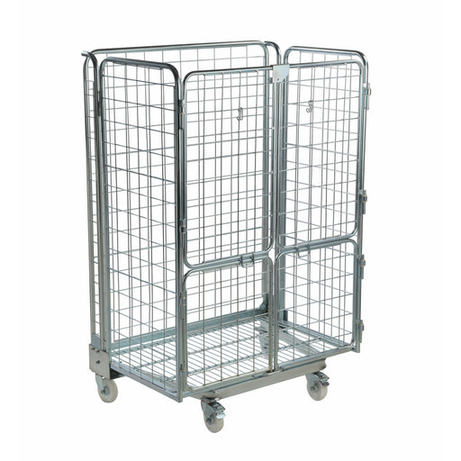 Four Sided Mesh Infill Jumbo Roll Cage Pallet