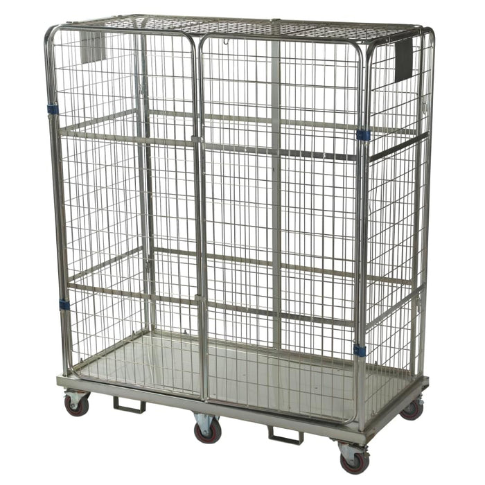 Four Sided Boltable Automotive Roll Cage Pallet with Lid