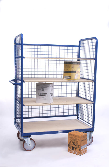 Mobile Adjustable Shelf Trolley