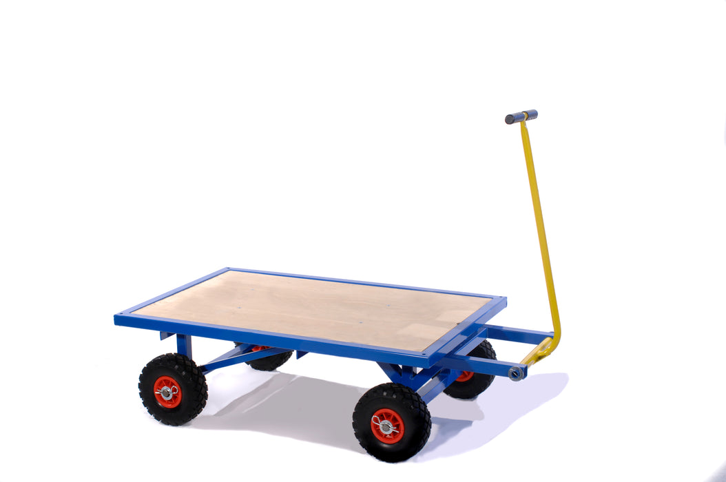 Small Turntable Platform Truck Puncture Proof Wheels