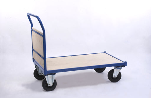 Single Wooden End Handle Platform Trolley