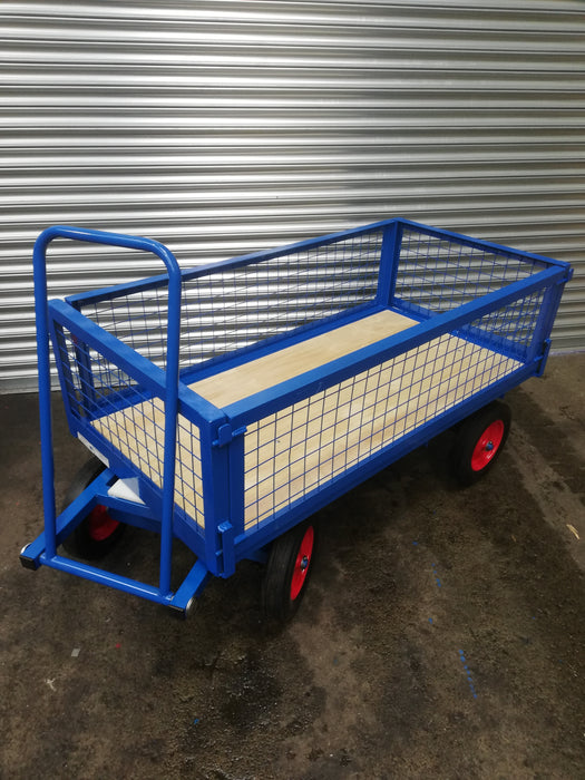 Turntable Platform Trailer Truck With Mesh Fold Down Sides