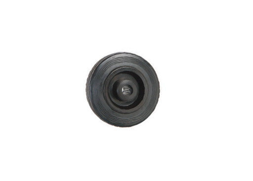 Black Solid Rubber Tyre, Polypropylene Centre | 80 - 125mm Wheel