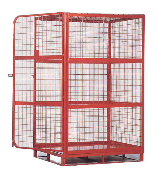 Heavy Duty Full Security Four Sided Forkliftable Parcel Cage