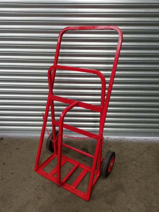 Twin Oxygen Acetylene Gas Cylinder Trolley All Terrain