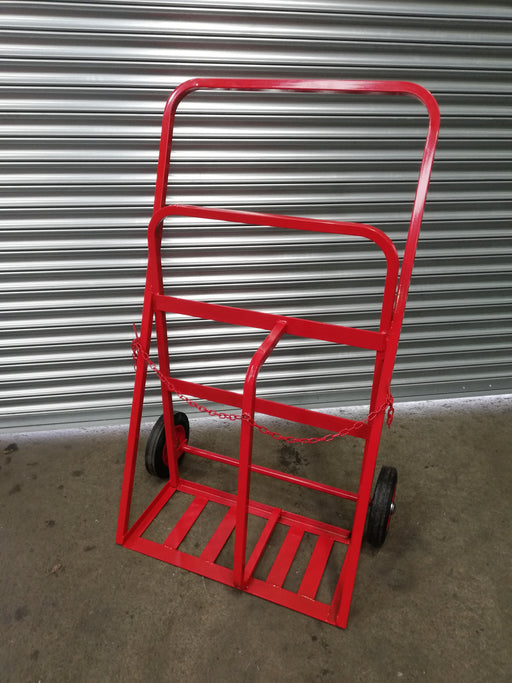Twin Oxygen Propane Gas Cylinder Trolley All Terrain