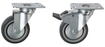 Light Duty Plate Fixing: Thermoplastic Rubber Tyre Castors | 75 - 125mm Wheel