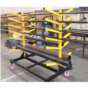 Folding Mobile Pipe Rack and Storage Unit