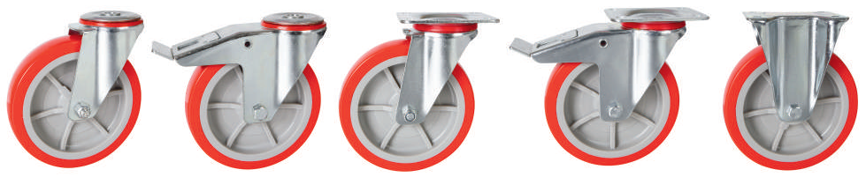 Polyurethane Tyre, Nylon Centre Castors | 150 - 200mm Wheel