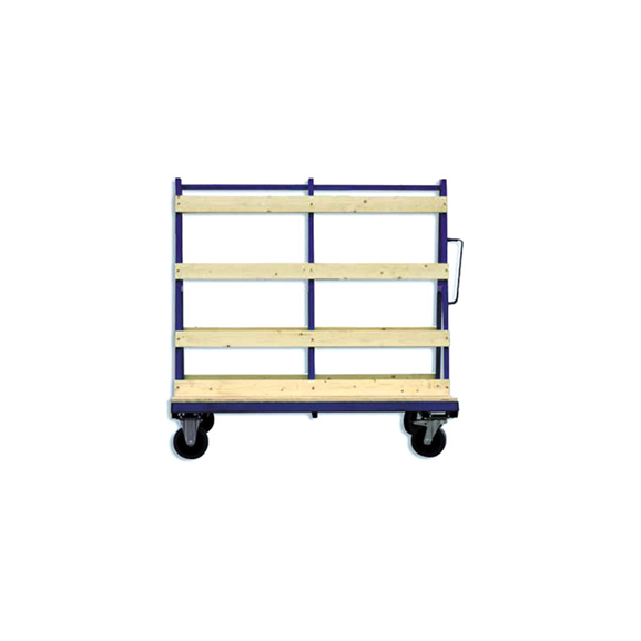 Small Mobile Glass A-Frame Trolley