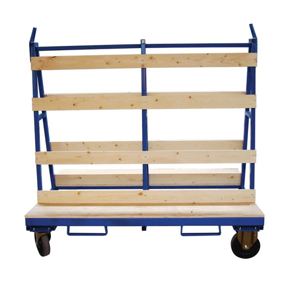 Small Liftable Mobile Glass A-Frame Trolley