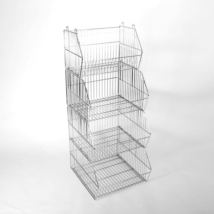 Small Stacking Wire Basket