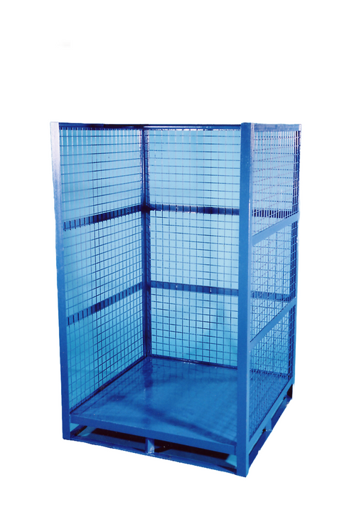 Heavy Duty Three Sided Forkliftable Mesh Parcel Cage