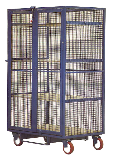 Two Door Adjustable Shelf Parcel Cage