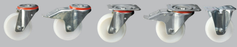 White Nylon Castors | 100 - 200mm Wheel