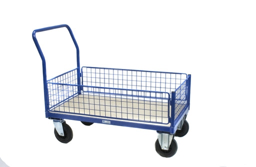 Mesh Sided Platform Basket Trolley Truck