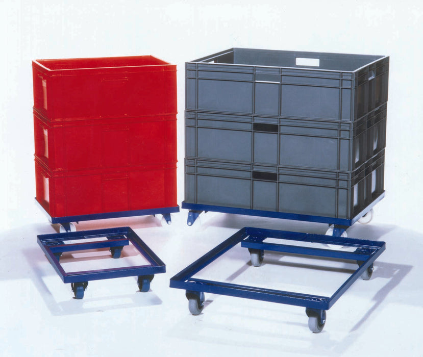 Single Tote Crate Dolly Trolley