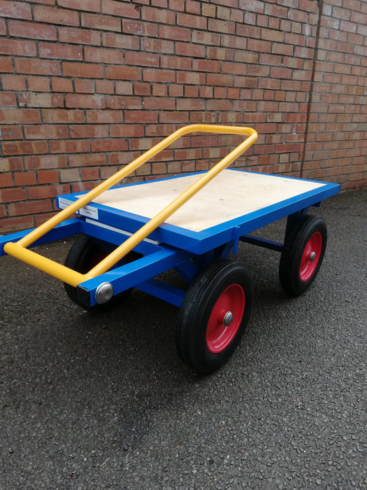 Mini Turntable Platform Truck with Solid Wheels
