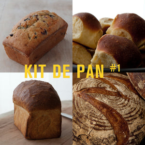 KIT DE PAN # 1 COUNTRY SOUR, CHALLAH, MIE MOLDE BLANCO, Y PAN DE BANANO