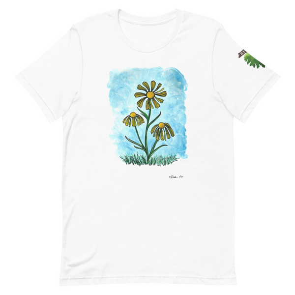 virginia sneezeweed white t-shirt